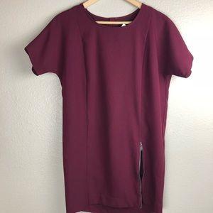 Banana Republic Purple Fitted Mini Dress NEW 0